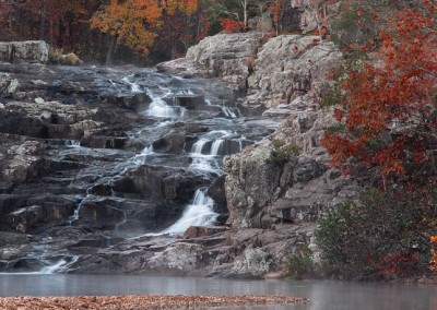 1071 Rocky Falls, Autumn, Ozark National Scenic Waterways, Missouri