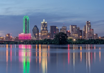 1110335 Reflections of Dallas, Texas, dusk, May 31, 2015