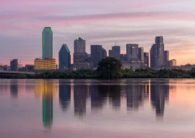 1100363 Reflections of Dallas, Texas, dawn, June 1, 2015