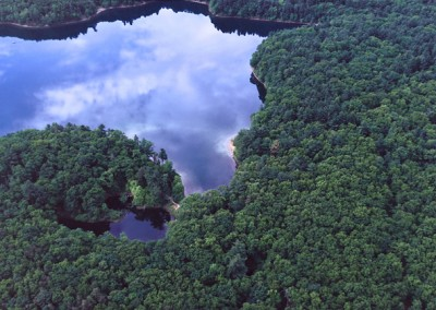 111 Walden Pond aerial PANORAMA
