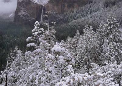 1160 Fresh snow, Bridalveil Fall, Yosemite Valley