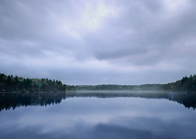 128 Walden Pond, cloudy morning