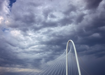 1322 Bridge and stormy sky, Margaret Hunt Hill Bridge by Santiago Calatrava, Dallas, TX