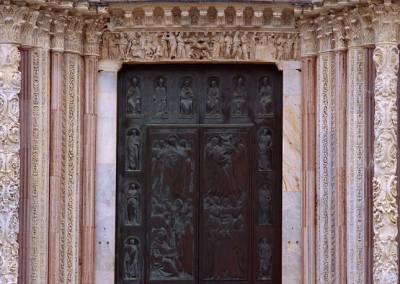 1360 Elaborate entry, Pienza. Italy