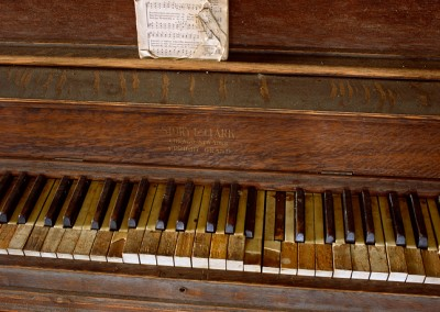 1365 Old piano in one-room schoolhouse, Texas Hill Country