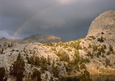 1446 Rainbow over Kings Canyon National Park wilderness, CA