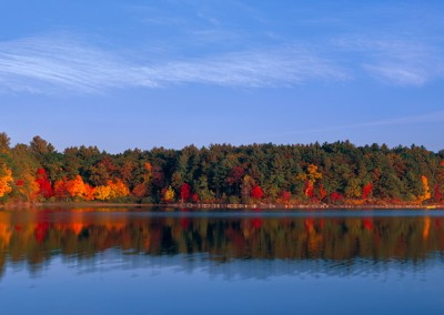 241 Autumn afternoon panorama, Walden Pond