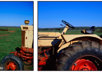 360-365 Tractor diptych, Texas Hill Country