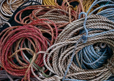 494 Fishermens ropes, Downeast, Maine