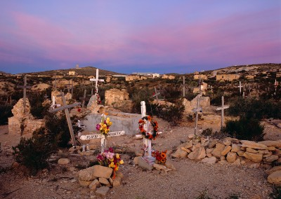 586 Terlingua, Texas Ghost Town cemetery, dawn