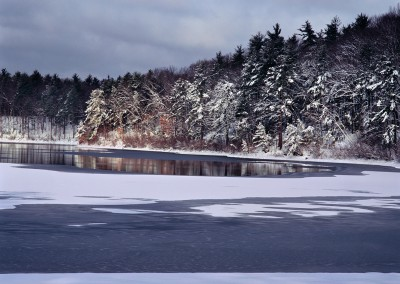 593 Walden Pond after a fresh snowfall