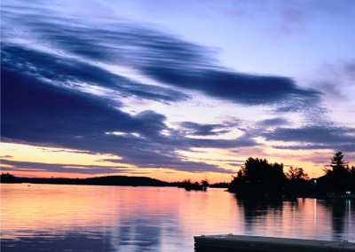 863 Colorful sunset, Moosehead Lake, Maine Woods