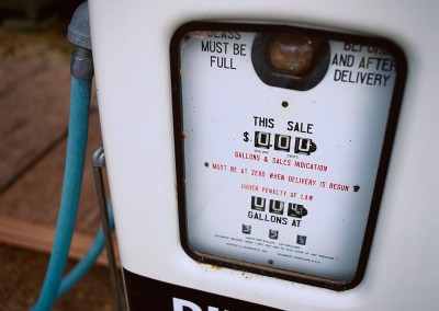 964 Diesel gasoline pump, LBJ Ranch