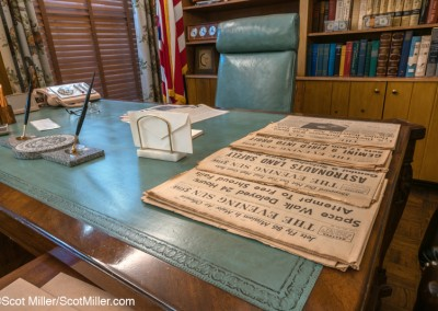 02455 LBJ's office desk, Texas White House, LBJ Ranch, Lyndon B. Johnson National Historical Park