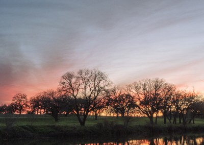 328093 Sunset on the Pedernales River, LBJ Ranch, Stonewall, Texas