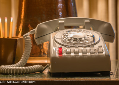 02693 Telephone in living room of Texas White House at LBJ Ranch