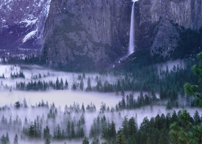 143 Bridalveil Fall, clearing storm, Yosemite Valley