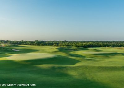 01492 Elevated view of Trinity Forest Golf Club & Great Trinity Forerst, Dallas, Texas