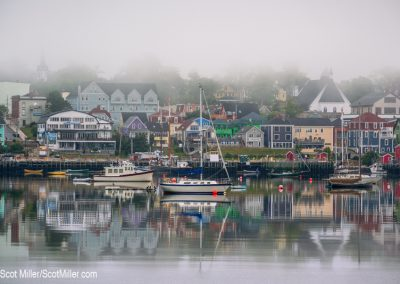 05159 Harbor, foggy morning, Lunenburg, Nova Scotia, Canada