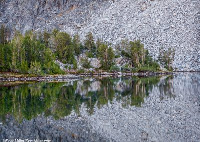 1020204 Mirror Image, Mountain Lake, John Muir Wilderness, CA