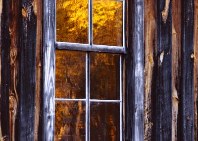 1059 Reflections in window, Parker-Hickman Homestead, Buffalo National River, AR