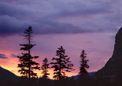 1286 Sunset, Tuolumne River wilderness, Yosemite National Park, CA