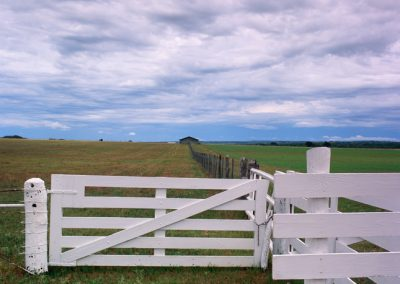 1456 White fencing & gates, big sky, LBJ Ranch, Lyndon B. Johnson Nationmal Historical Park, TX