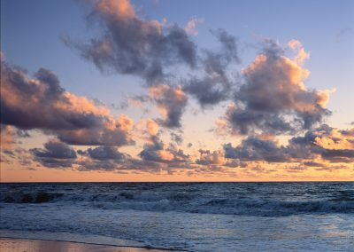 1459 Colorful clouds over Atlantic Ocean at sunrise, Cape Cod National Seashore, MA