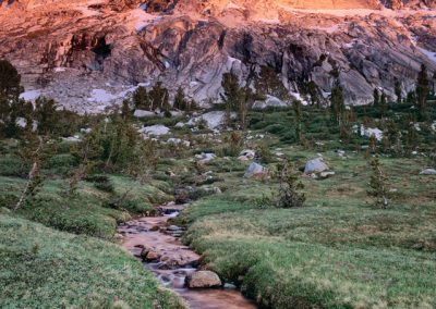 505 Stream of orange, Yosmite National Park wilderness
