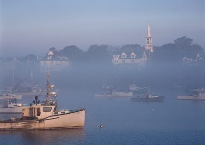 526 Foggy Jonesport, Maine, harbor at sunrise