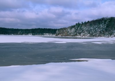 540 Frozen Walden Pond after a fresh snowfall, Concord, MA, PANORAMA