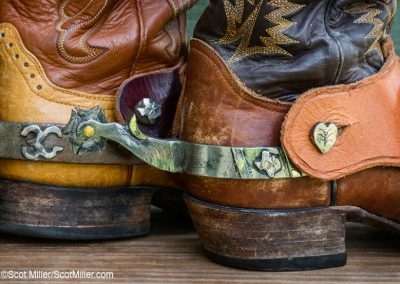 6952 Custom-made spurs, LBJ Ranch