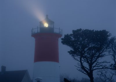 717 Nauset Light in early morning fog, Cape Cod National Seashore, MA