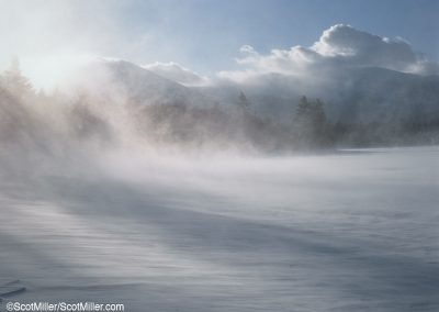 970 Winter blizzard, Katahdin Lake, Baxter State Park, Maine