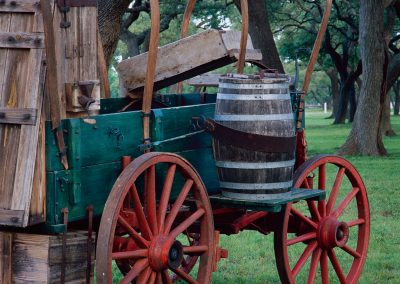 986 Chuck wagon in oak grove, LBJ Ranch, Lyndon B. Johnson National Historical Park