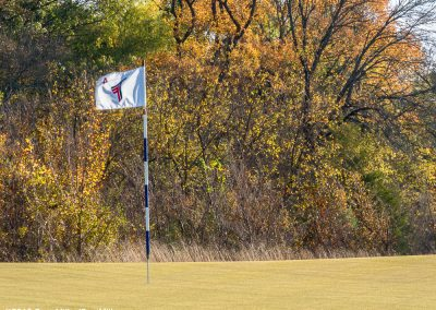 3270203 Autumn color, 4th green, Trinity Forest Golf Club