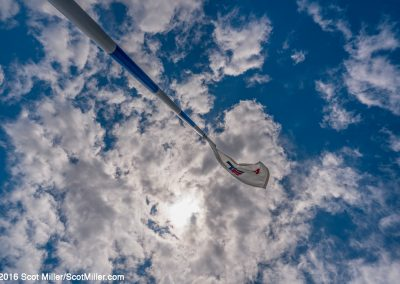 00607 Flag & sky, 14th hole, Trinity Forest Golf Club, Dallas, TX