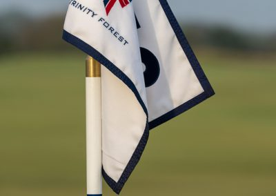 02356 Close-up of flag, Trinity Forest Golf Club, Dallas, TX