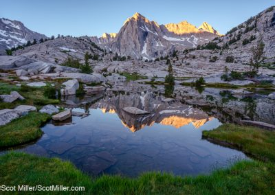 01276 Glorious Sierra morning, John Muir Wilderness, Sierra Nevada Mountains, CA