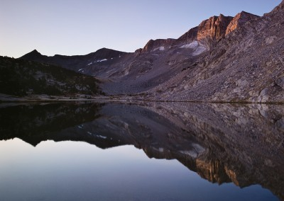 1035 First light, High Sierra lake, Yosemite wilderness