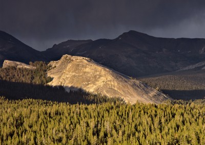 1110 Lembert Dome, storm light, Tuolumne Meadows, Yosemite