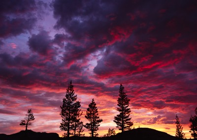 1111 Crimson & gold sunset, Yosemite wilderness