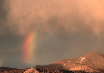1113 Rainbow, storm light, Yosemite National Park High Country