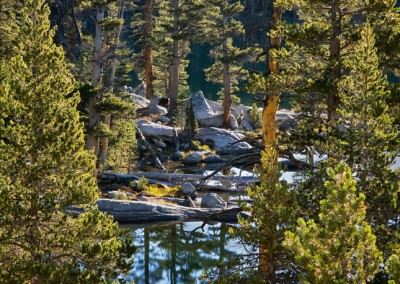 1460 Morning sun, High Sierra Lake, Yosemite wilderness