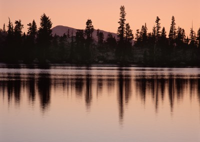 1461 Dusk, High Sierra Lake, Yosemite wilderness