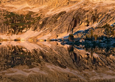 507 High Sierra wilderness lake, sunset, Yosemite