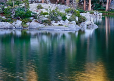 563 Evening, wilderness lake, Yosemite National Park